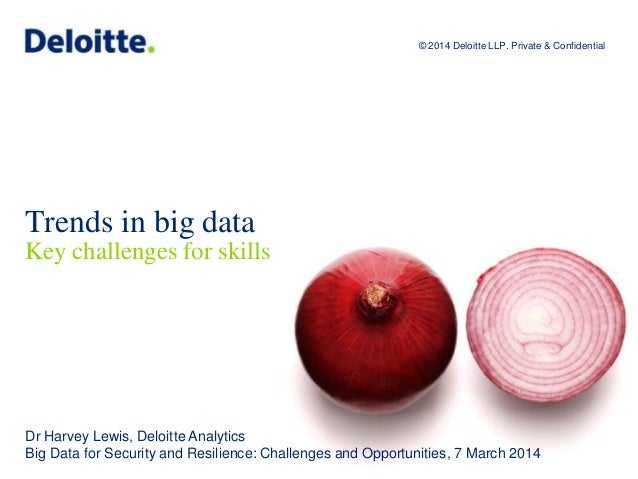 © 2014 Deloitte LLP. Private and confidential. Trends in big data Key challenges for skills © 2014 Deloitte LLP. Private &...