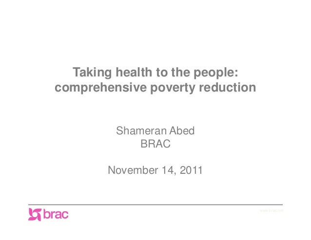 Shameran Abed, Why Integrating Microfinance, Health Education, and Other Forms of Health Protection