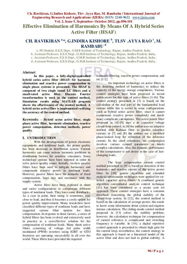 Ch. Ravikiran, G.Indira Kishore, Tlsv .Ayya Rao, M. Rambabu / International Journal of      Engineering Research and Appli...