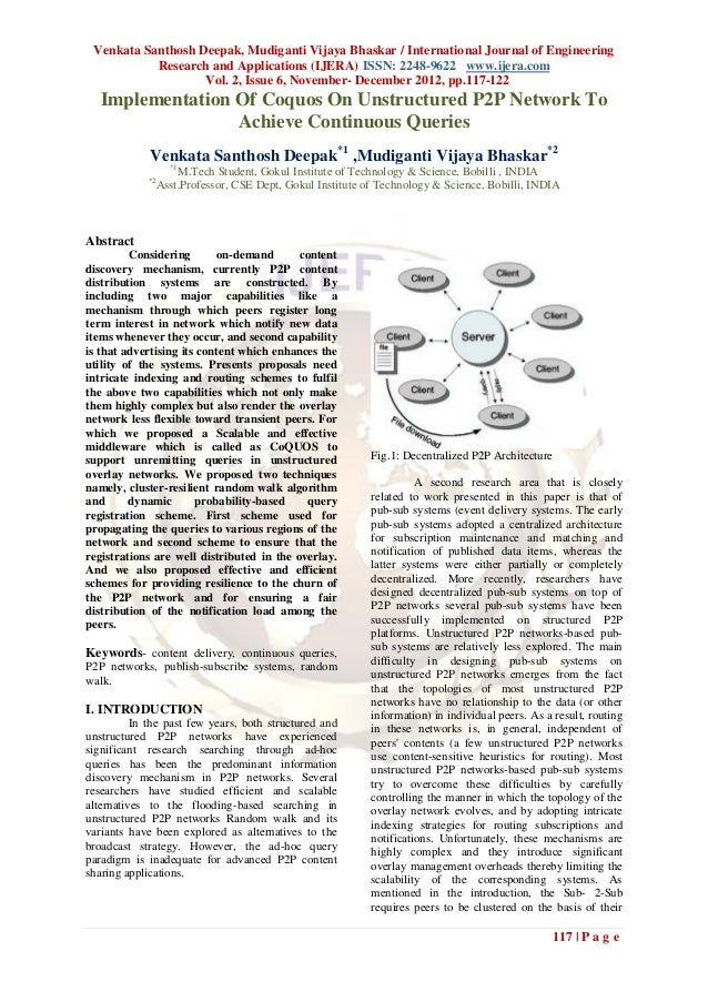 Venkata Santhosh Deepak, Mudiganti Vijaya Bhaskar / International Journal of Engineering           Research and Applicatio...