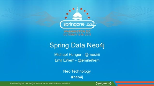 Spring Data Neo4j Intro SpringOne 2012