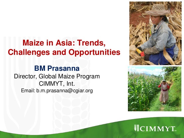 Maize in Asia: Trends,Challenges and Opportunities        BM Prasanna Director, Global Maize Program           CIMMYT, Int...