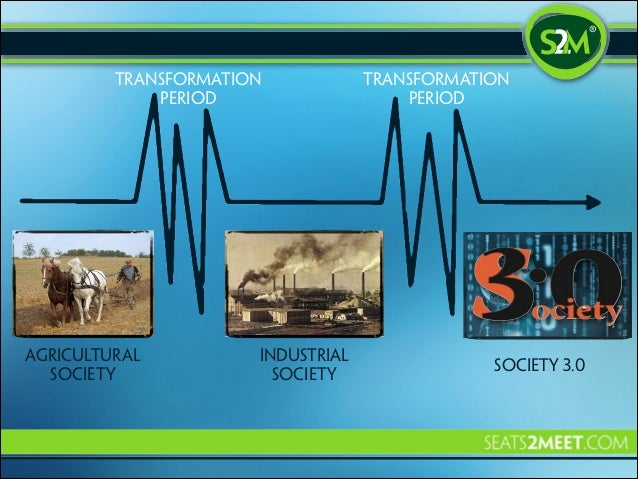 Transformation period  agricultural society  Industrial society  Transformation period  society 3.0
