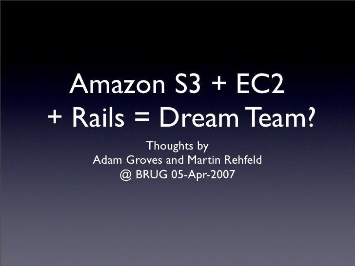 S3 and EC2 Rails Scenarios