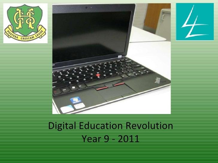 Digital Education Revolution Year 9 - 2011