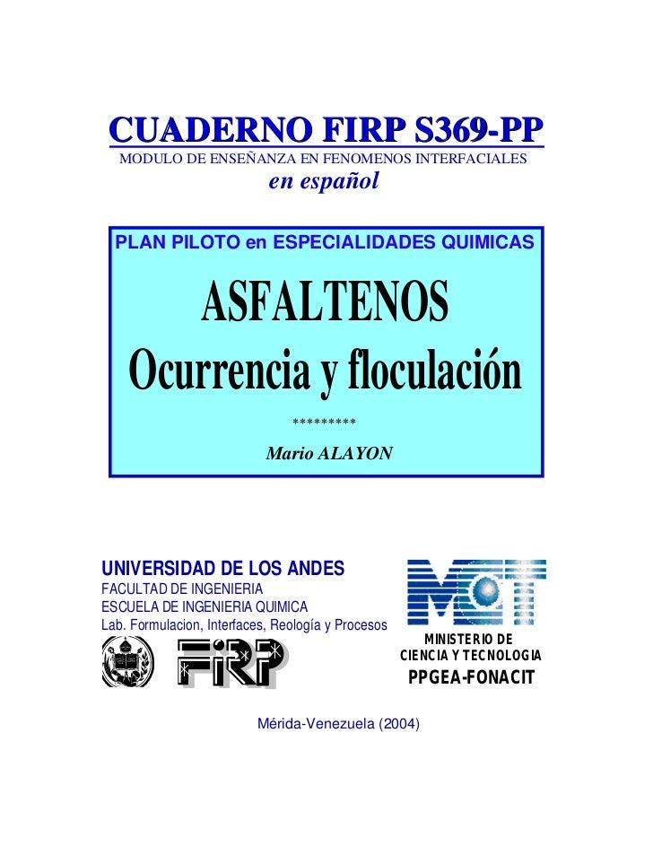 CUADERNO FIRP S369-PP   MODULO DE ENSEÑANZA EN FENOMENOS INTERFACIALES                            en español  PLAN PILOTO ...