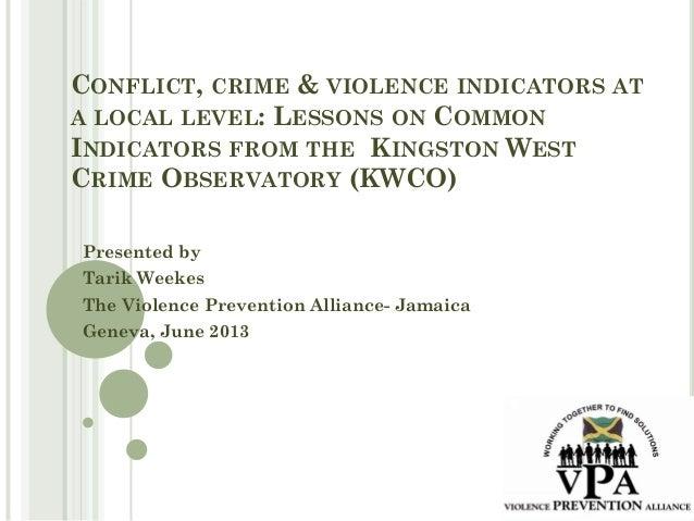 Tarik Weekes - The Violence Prevention Alliance- Jamaica