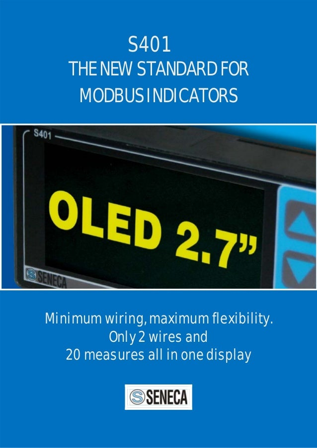 S401 The New Standard For Modbus Indicators