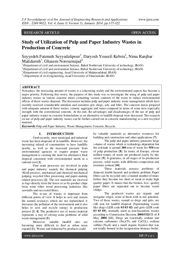 S F Seyyedalipour et al Int. Journal of Engineering Research and Applications ISSN : 2248-9622, Vol. 4, Issue 1( Version 3...