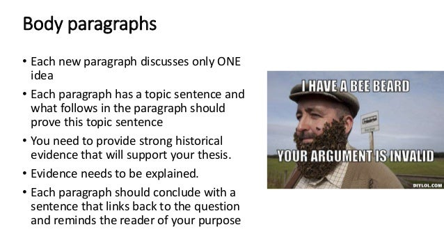 Does the very last sentence of an essay have to link to the question?