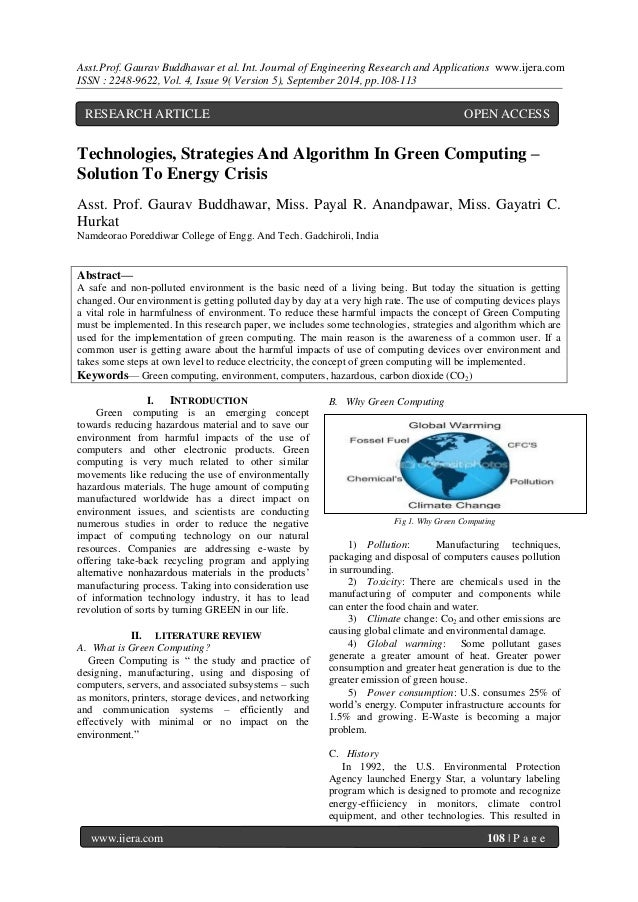 Abstract Computer Solutions Green Computing – Solution