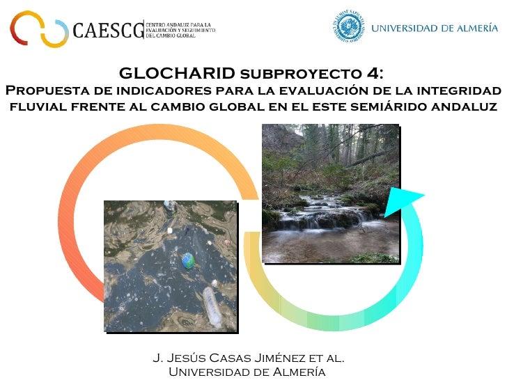 GLOCHARID subproyecto 4:  Propuesta de indicadores para la evaluación de la integridad fluvial frente al cambio global en ...