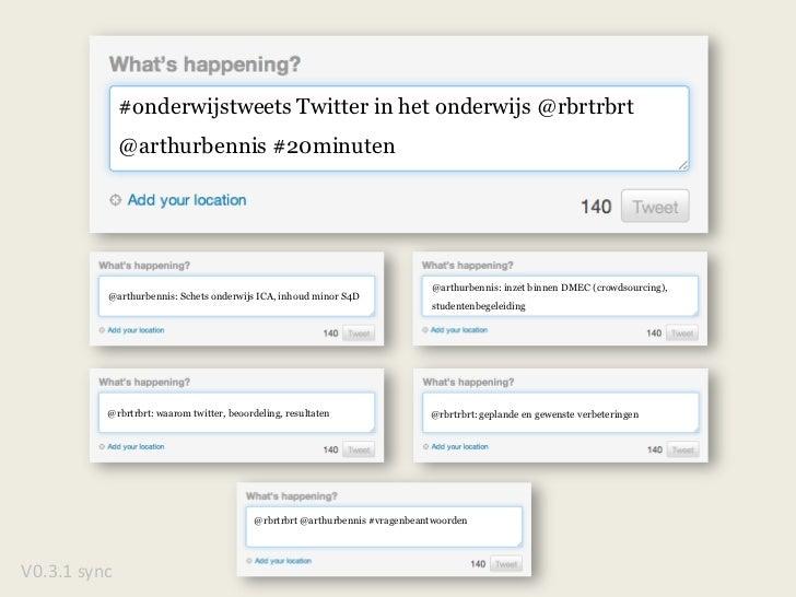 @arthurbennis: inzet binnen DMEC (crowdsourcing), <br />studentenbegeleiding<br />@rbrtrbrt @arthurbennis #vragenbeantwoor...