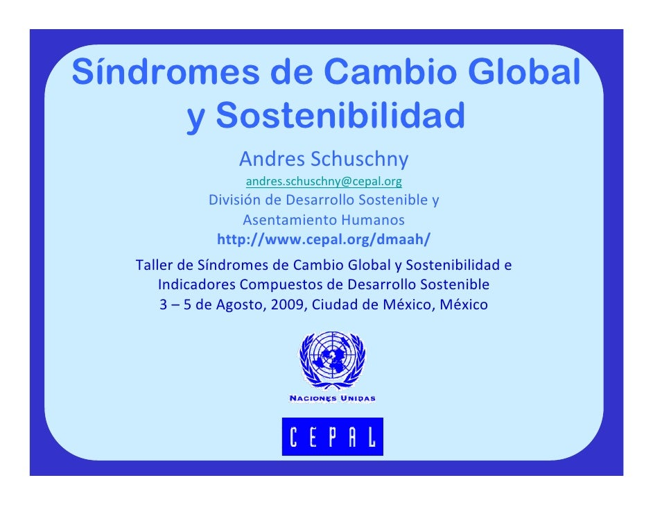 Sindromes de Cambio Global