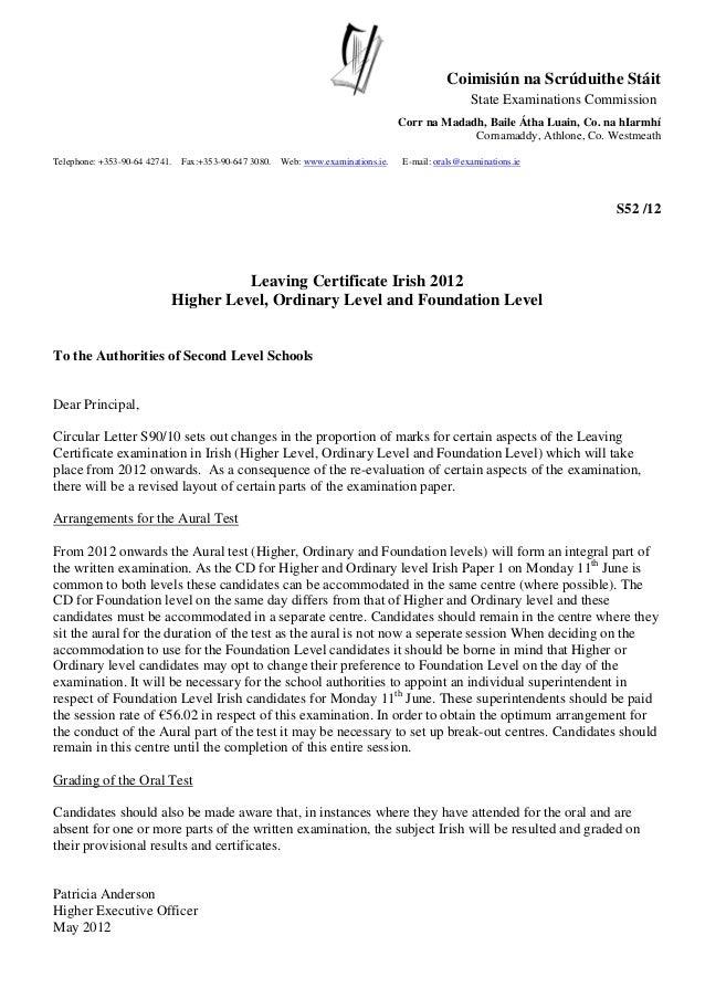 stmeath. Coimisiún na Scrúduithe Stáit State Examinations Commission Corr na Madadh, Baile Átha Luain, Co. na hIarmhí Corn...