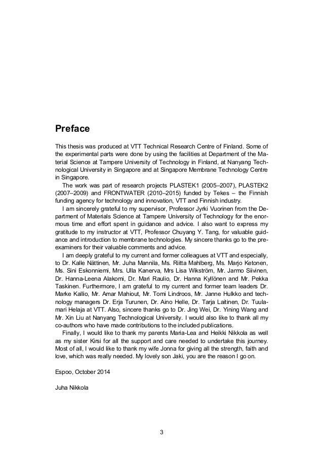 Dissertation on permeation