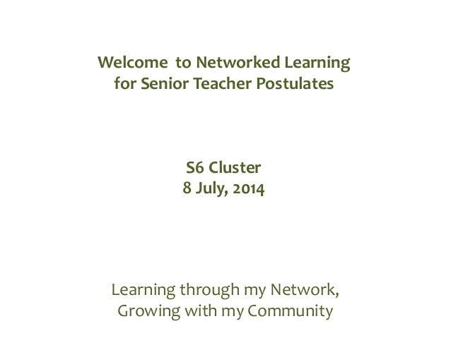S6 cluster Senior Teacher and Lead Teacher Symposium 2014 v3
