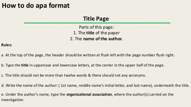 how to write apa how to write in apa format sle