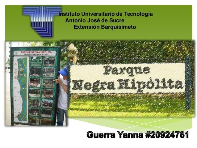 Instituto Universitario de Tecnología Antonio José de Sucre Extensión Barquisimeto