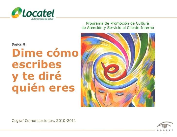 Programa de Promoción de Cultura                                                de Atención y Servicio al Cliente InternoS...