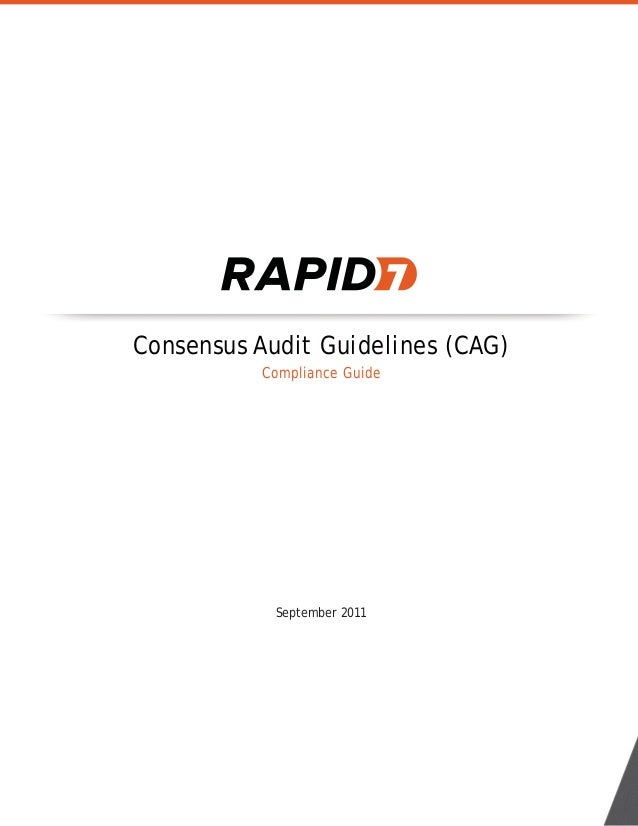Consensus Audit Guidelines (CAG) Compliance Guide September 2011