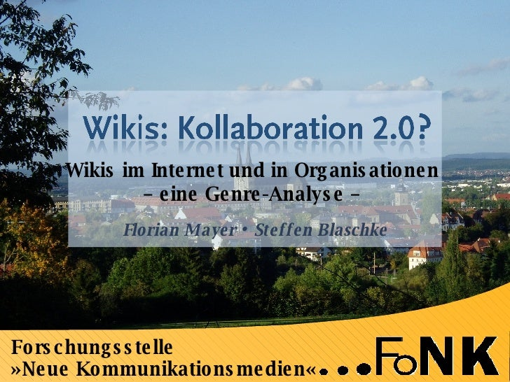 Wikis: Kooperation 2.0 (Mayer, Blaschke)