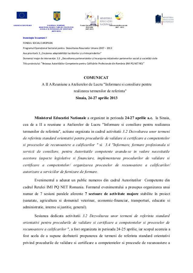 SA 3.2 comunicat Sinaia post eveniment