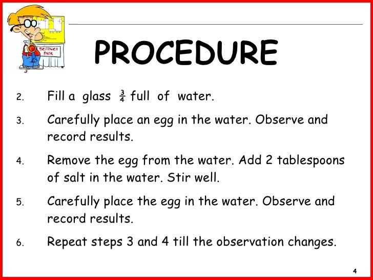 Science Procedure