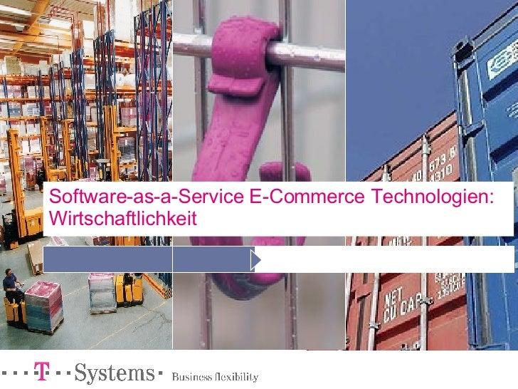 Software-as-a-Service E-Commerce Technologien: Wirtschaftlichkeit