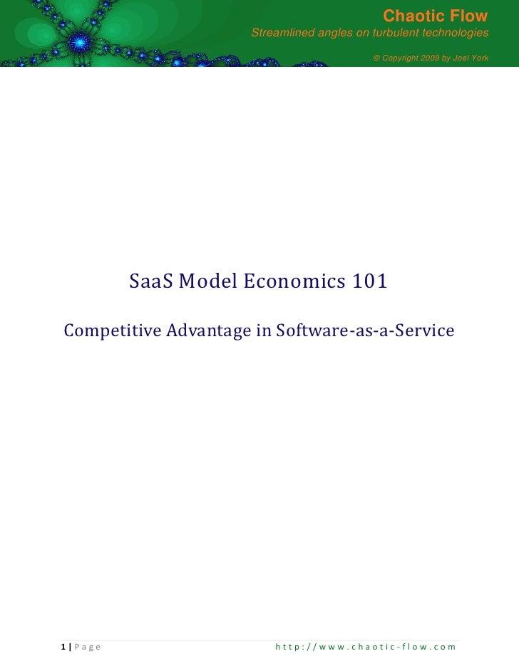 Saas Model Competitive Advantage