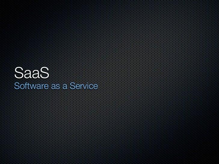 SaaSSoftware as a Service