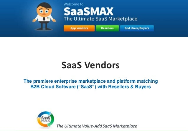 SaaSMax vendor program 2014