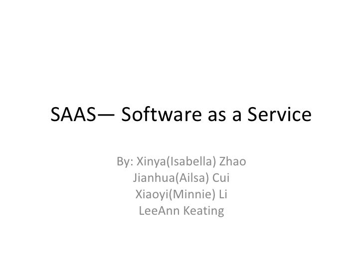 Saas— software as a service