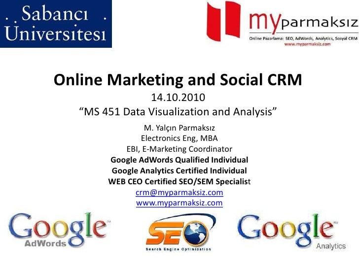 Online Marketing & Social CRM in Turkey