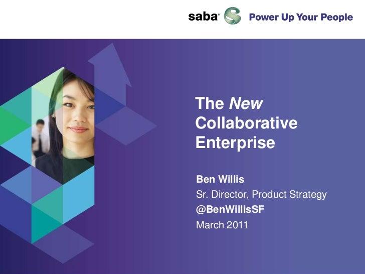 Saba The New Social Enterprise