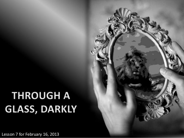 Lesson 7 for February 16, 2013