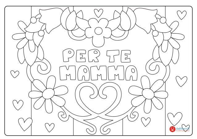 Festa della mamma disegni da colorare sabbiarelli