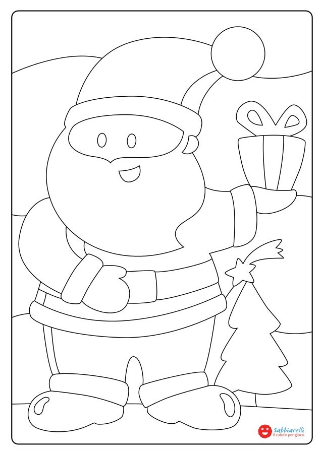 Il babbo natale disegni da colorare sabbiarelli - Babbo natale da colorare fogli da colorare ...