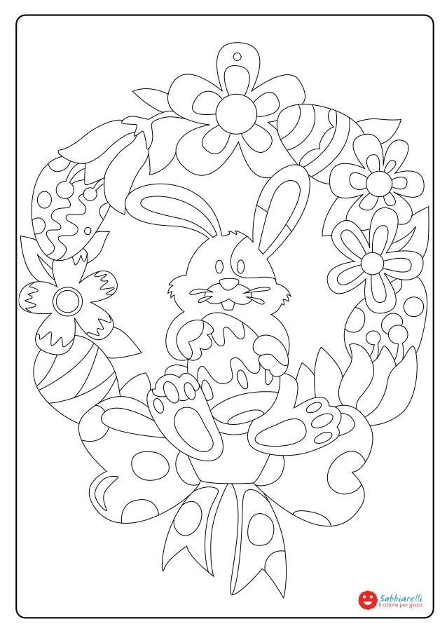 la ghirlanda di pasqua disegni da colorare sabbiarelli