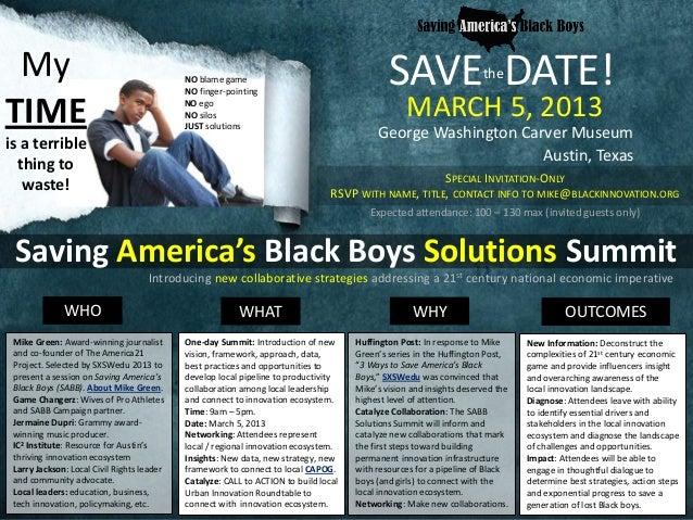 Saving America's Black Boys (SABB) Solutions Summit