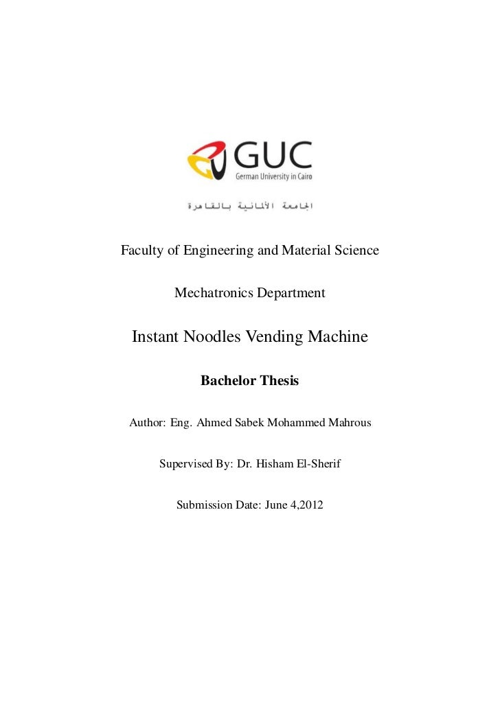Noodles Vending Machine - Bachelor Thesis