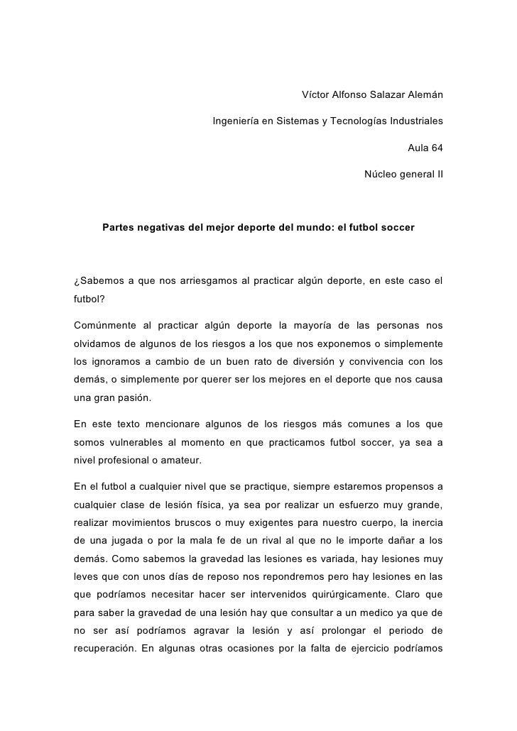 Víctor Alfonso Salazar Alemán                               Ingeniería en Sistemas y Tecnologías Industriales             ...