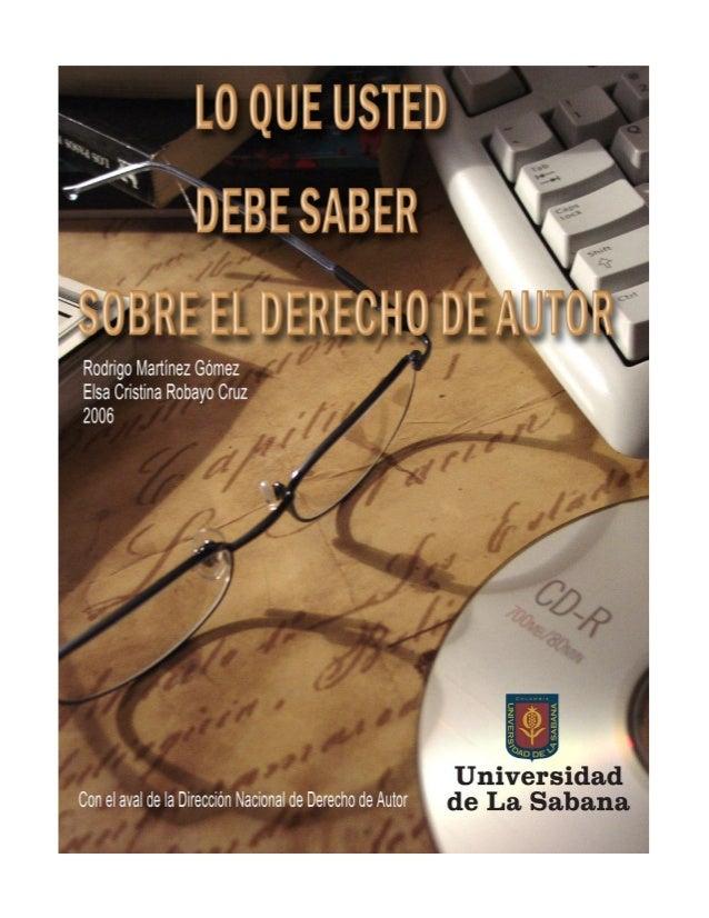 Primera edición: 2006ISBN: 12-0238-2©Rodrigo Martínez Gómez©Elsa Cristina Robayo Cruz©Universidad de La SabanaCampus Unive...