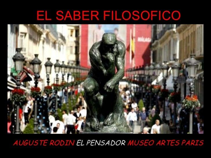 AUGUSTE RODIN  EL PENSADOR  MUSEO ARTES PARIS EL SABER FILOSOFICO