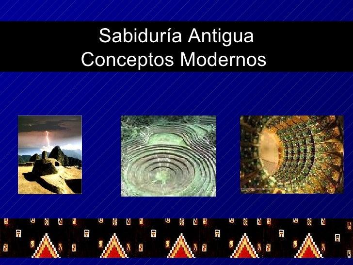Sabiduría Antigua Conceptos Modernos