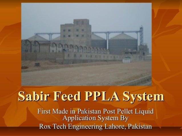 Sabir feed ppla system
