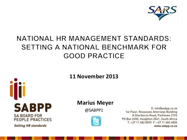 SABPP - HR Standards - SARS