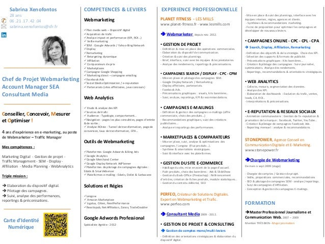 sabrina xenofontos cv - digital account manager