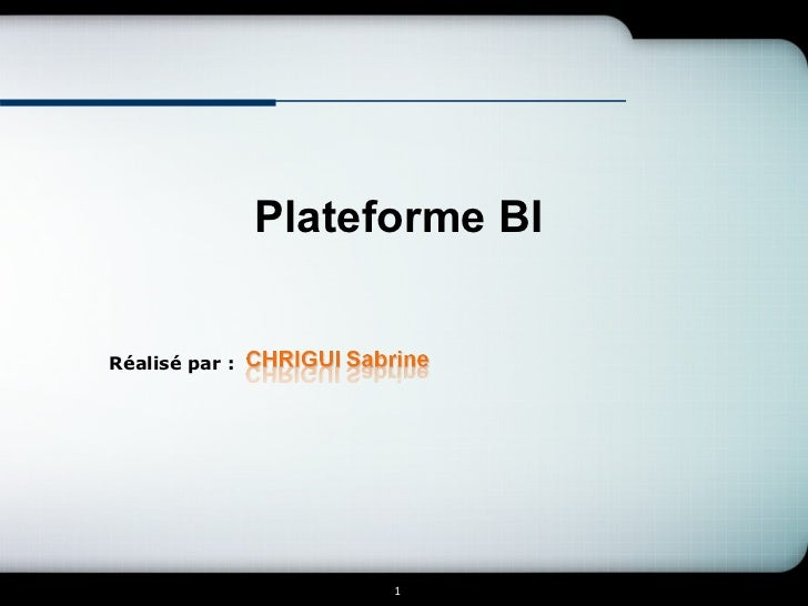 Plateforme BI