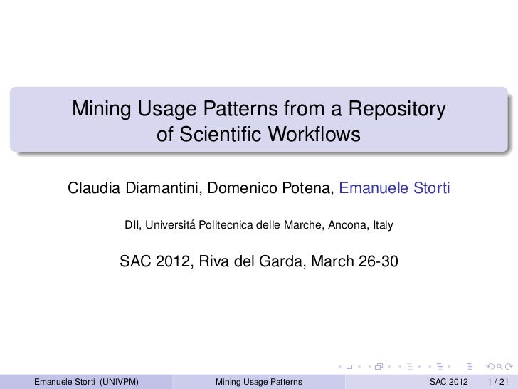 Mining Usage Patterns from a Repository of Scientific Workflow